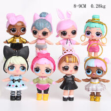 8pcs Set 8-9cm Action figure LOL doll dress toys LOL Surprise for kids gifts