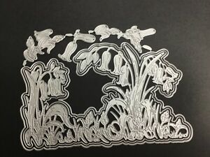 Metal Cutting Dies, bluebells, fits Carnation crafts Bluebell Delight