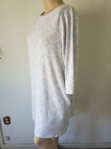 NWT Croft & Barrow Womens Nightgown Sleep Night Shirt 3/4 Sleeves Polyester Knit