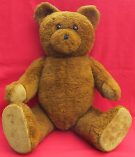 VINTAGE OLD TEDDY BEAR - glass eyes, length: 80cm