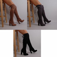Zip High Heel (3-4.5 in.) Block Unbranded Boots for Women