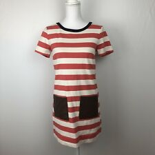 J Crew Factory Striped Zipper Back Dress With Front Pockets Extra Small XS
