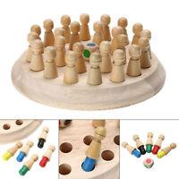 Kinder Holz Memory MatchStick Schachspiel Lernspielzeug Gehirntraining Geschenke