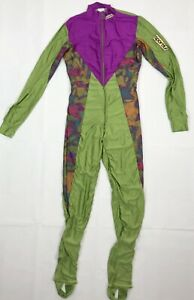 Vintage 1980's SPORTFUL Cycling Skinsuit Mens Size XS Shiny Speed Full-Zip Lined