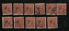 España. 11 sellos Alfonso XIII matasello Marruecos
