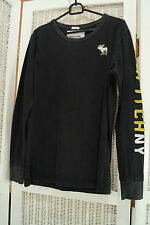 """ABERCROMBIE & FITCH Muscle Shirt 39"""" Chest Long Sleeve Moose Logo Branded Sleeve"""
