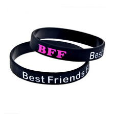 BFF Best Friends Forever Silicone Rubber Wristband bracelet jewelry new 1pcs