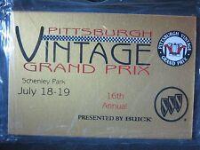 New 1998 Pittsburgh Vintage Grand Prix PVGP Sealed Metal Dash Plaque BMW Marque