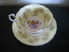 Paragon Yellow Multi Colored Floral Gold Sunflower China Cup & Saucer