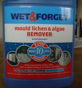 5L WET AND FORGET MOULD, ALGAE AND LICHEN REMOVAL ,  MAKES 30L NEW