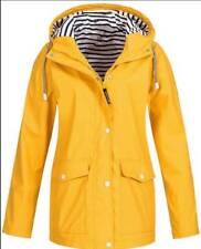 Womens Long Sleeve Hooded Wind Jacket Ladies Outdoor Winter Waterproof Rain Coat
