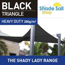 Triangle Black 4m x 6m x 6m Shade Sail Sun Heavy Duty 280GSM Outdoor Black