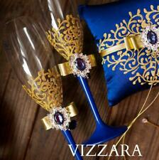 Champagne glasses Navy blue