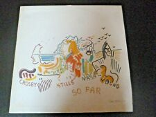 CROSBY STILLS NASH & YOUNG : SO FAR (LP) - nirvana - bob dylan - u2
