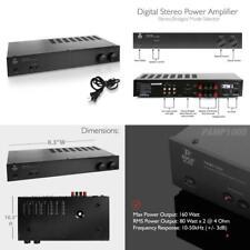 Pyle Home PAMP1000 160 Watt 2 Channel Stereo Power Amplifier