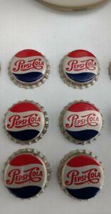 🥤Vintage 1950s Pepsi Cola Bottle Caps (6) 🥤Mint