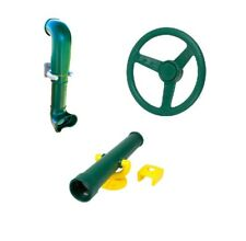 GREEN Playground Accessory Kit Cubbyhouse Steering Wheel Telescope Periscope