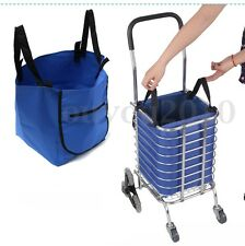 Supermarket Trolley Shopping Bags Grocery Cart Clips Reusable Foldable Hand Bag