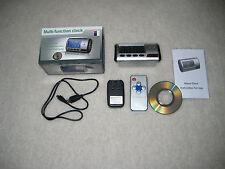 Spy Electronic Digital Alarm Clock Camera Video DVR Remote Control Motion Detect
