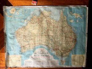 Vintage TAA Air Route MAP Of AUSTRALIA 1950/60's, Convair, DC.3 Skymaster Drover