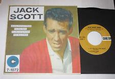 """Jack Scott Sings 7"""" 45 EP HEAR ROCK N ROLL ROCKABILLY RARE UNISSUED FILE COPY"""