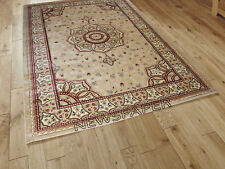 NEW TRADITIONAL CLASSIC THICK DENSE LUXURY WOOL-LOOK PRESTIGE BEIGE RUGS