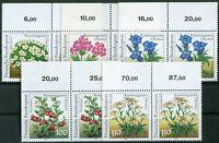 Bund Nr. 1505 - 1509 postfrisch waagerechte Paare BRD Motiv Blumen ungefaltet