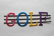 #3095 Multicolor Golf Mot Broderie à Repasser Patch en Appliqué