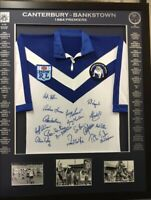 Blazed In Glory- 1984 Canterbury Bankstown Bulldogs Premiers - NRL Framed Jersey