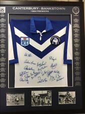 Blazed In Glory- 1984 Canterbury Bankstown Bulldogs Premiers - NRL Framed Jersey