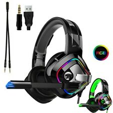 3.5mm LED Gaming Headset Headphone For PC Nintendo Switch Laptop PS4 Xbox One UK