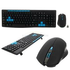New Wireless PC Notebook Keyboard + Cordless Mouse Mice Combo Set for Officer