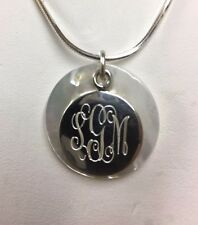 925 Sterling silver with mother pearl shell monogrammed