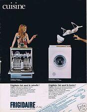 Publicité Advertising 066 1969 Frigidaire lave-vaisselle machine à laver