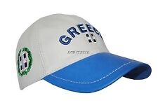 New BASEBALL Greece White Blue Ladies Mens Real Lambskin Leather HipHop Cap Hat