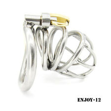 New High quality Male Chastity Device Bird Lock Stainless Steel Cage A224-1