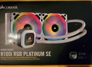 Corsasir H100i RGB Platinum SE 240mm AIO RGB Liquid Cooler - White