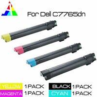 4 PK C7765 KCMY Toner Set For Dell Color Laser C7765dn Multifunction Printer