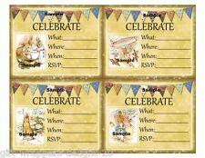 Peter Rabbit 12 DIY Party Invitations Birthday Baby Shower Craft Scrapbook Card