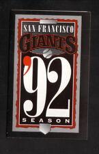 San Francisco Giants--1992 Pocket Schedule--AT&T