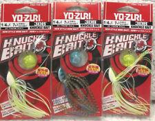 (3) YO-ZURI 3DB KNUCKLE BAIT 3D Prism Ball Spinnerbaits 1/4oz Good Mix 16