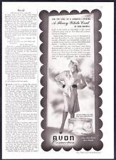 1942 Vera Maxwell Jersey Coat photo Avon Cosmetics Face Powder vintage print ad