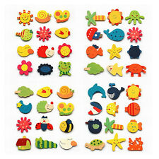 12x Fridge Magnet Funny Cute Mixed Cartoon Wooden Baby Kid Educational Toy Gift