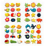 12pcs Fridge Magnet Wooden Cartoon Animals Novelty Magnets Colourful Kid's Fun