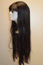 Vision 3000 PERRUQUE noir lisse env. 70cm long perruque Pos P10