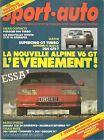 SPORT AUTO 278 1985 RALLYE MONTE CARLO SUEDE ALPINE V6 GT R5 GT TURBO 205 GTI 1.