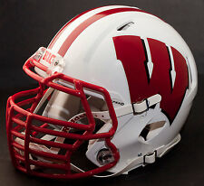 *Custom* Wisconsin Badgers Ncaa Riddell Speed Replica Football Helmet