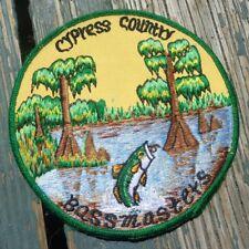 "Cypress Country Bassmasters Louisiana Fishing Yellow 5.5"" Vintage Twill Patch"