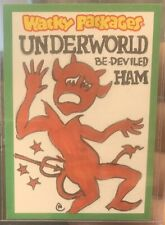 Wacky Packages 2013 ANS 10 Sketch Neil Camera 1/1 Underworld Be-deviled Ham