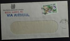 c.1969 Dominica Airmail Royal Bank of Canada Window Cover ties 6c stamp